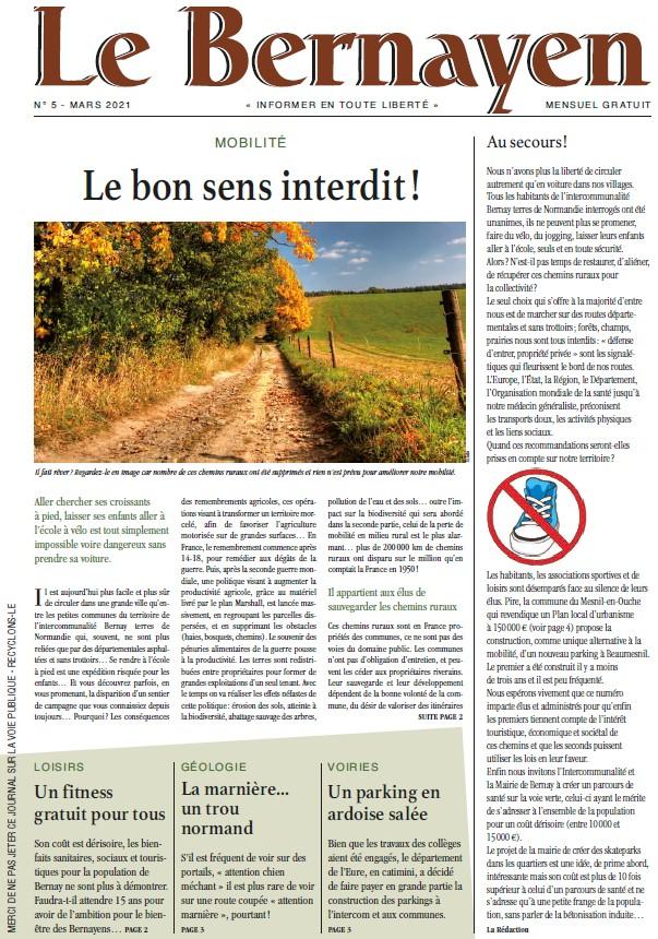 couverture Le Bernayen mars 2021